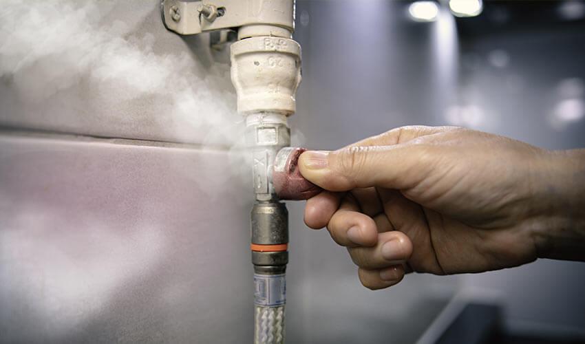 Gasleitung wird abgedrecht bei Gasgeruch
