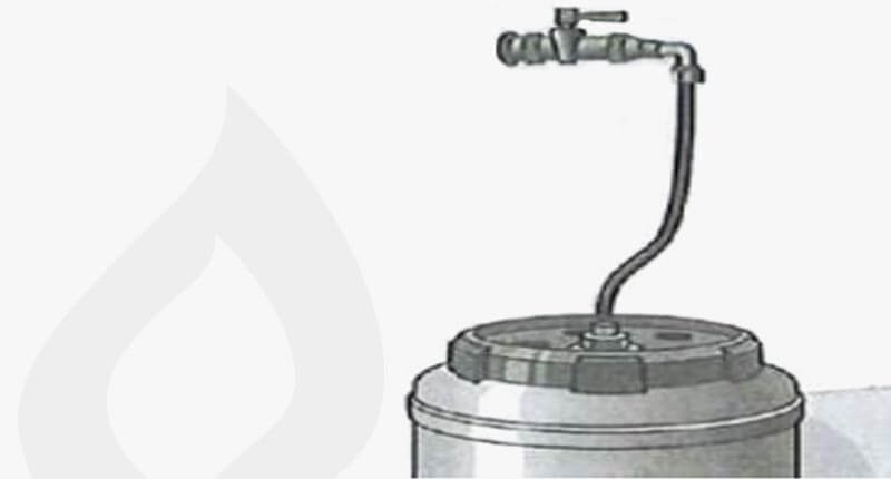 GK71 Überprüfung Schritt 6: Entleerung des Dichtmittels